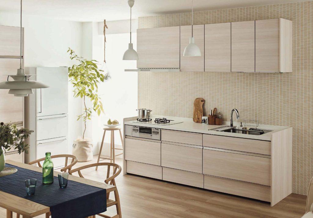 明るい木目キッチン