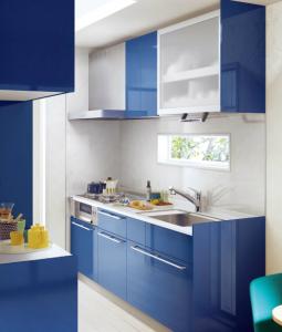 青色のキッチン