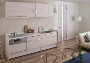 建具とキッチンがイタリアンウォールナット