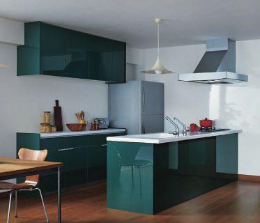 TOTO緑色キッチン