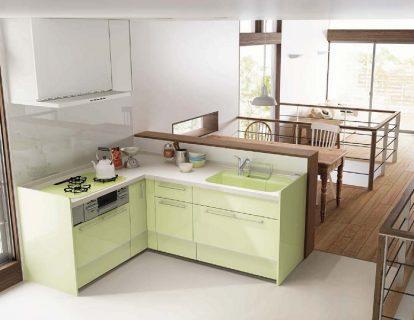 緑色キッチン