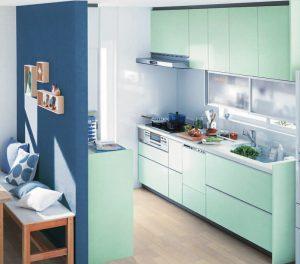TOTOグリーンのキッチン