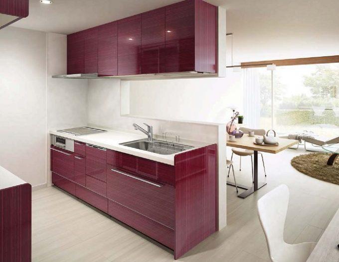ワイン色の台所