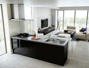 黒キッチン