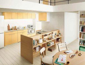 明るい黄色キッチン