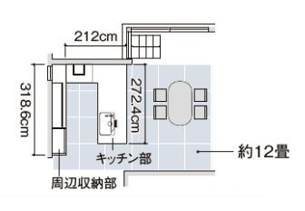 キッチン間取り図