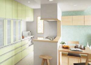 対面式で明るいキッチン